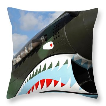 P-40 Flying Tigers Throw Pillow by Mark Grayden