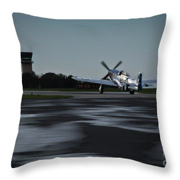 Throw Pillow featuring the photograph P-51  by Douglas Stucky