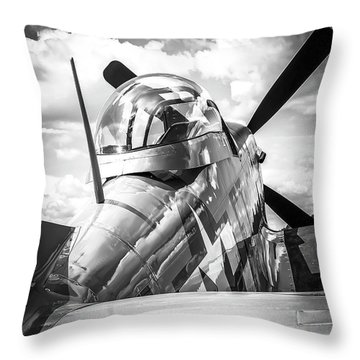 P-51 Mustang Series 2 Throw Pillow