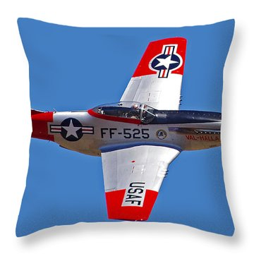 P-51d Mustang Flyby Throw Pillow