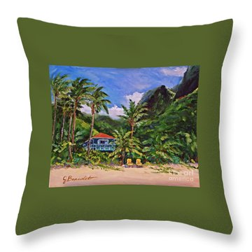 Throw Pillow featuring the painting P F by Jennifer Beaudet