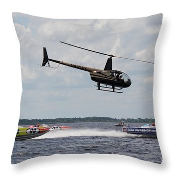 P1 Powerboats Throw Pillow