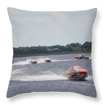 P1 Powerboats Orlando 2016 Throw Pillow