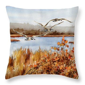 On The Fly Throw Pillow by Art Scholz