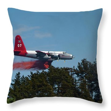 P2v Red Canyon Fire Throw Pillow