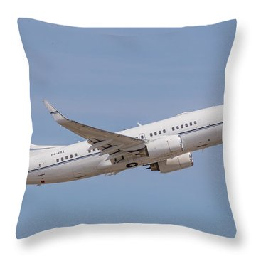 P4-kaz Kazakhstan Government 737 Throw Pillow