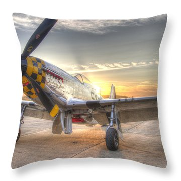 P51 Mustang Kimberly Kaye At Hollister  Throw Pillow