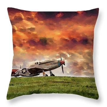 P51 Warbird Throw Pillow