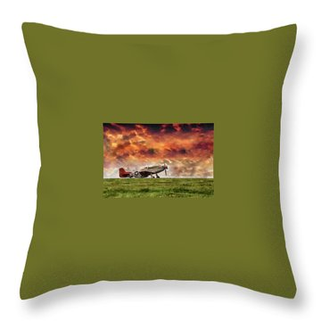 P51 Warbird Throw Pillow