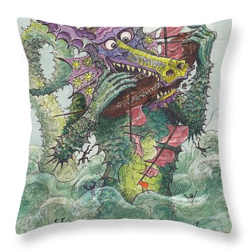 P7 Fish And Ships Throw Pillow