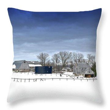 Pa Farm Throw Pillow