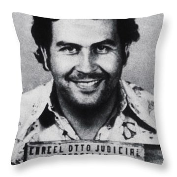 Pablo Escobar Mug Shot 1991 Vertical Throw Pillow by Tony Rubino