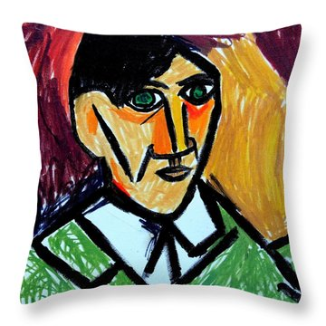 Pablo Picasso 1907 Self-portrait Remake Throw Pillow