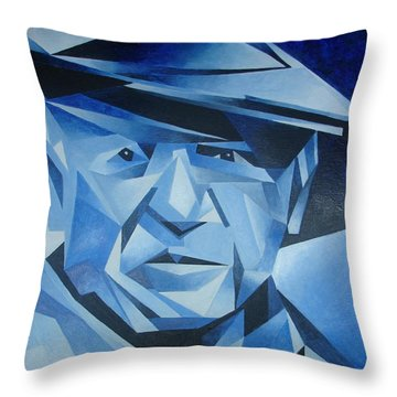 Pablo Picasso The Blue Period Throw Pillow by Tracey Harrington-Simpson