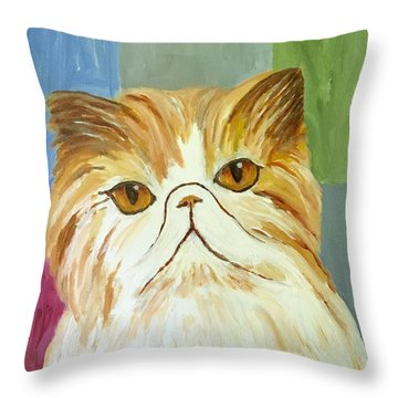 Pablo Throw Pillow by Victoria Lakes