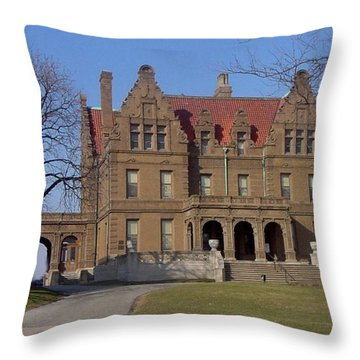 Pabst Mansion Photo Throw Pillow by Anita Burgermeister