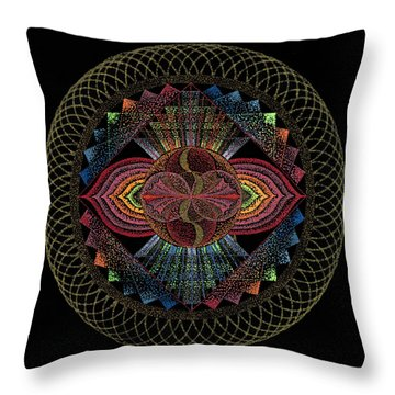 Throw Pillow featuring the painting Pachamama by Keiko Katsuta