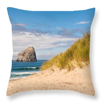 Throw Pillow featuring the photograph Pacific Beach Haystack by Michael Hope