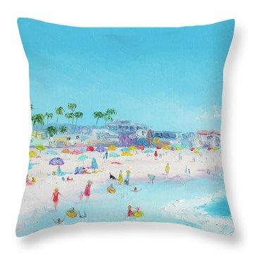 Pacific Beach In San Diego Throw Pillow