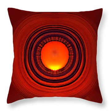 Pacific Beach Pier Sunset - Abstract Throw Pillow