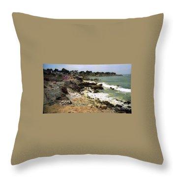 Pacific California Coast Beach Throw Pillow