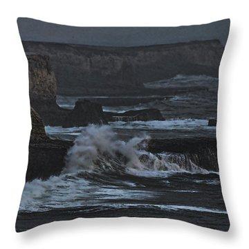Pacific Cliffs Of Davenport Throw Pillow