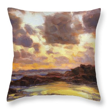 Pacific Clouds Throw Pillow