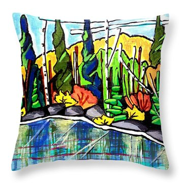 Pacific Coast Forest Throw Pillow