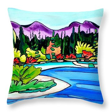 Pacific Coast Throw Pillow
