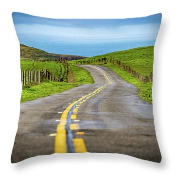 Pacific Coast Road To Tomales Bay Throw Pillow