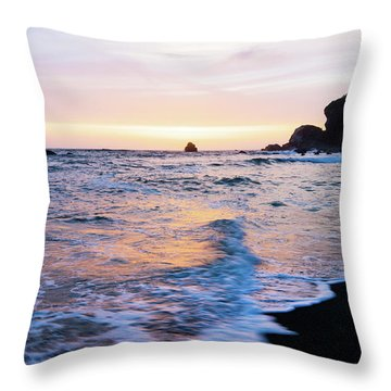 Throw Pillow featuring the photograph Pacific Coast Sunset by TL Mair
