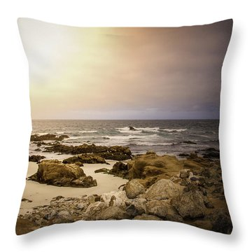Throw Pillow featuring the photograph Pacific Coastline by Ryan Photography