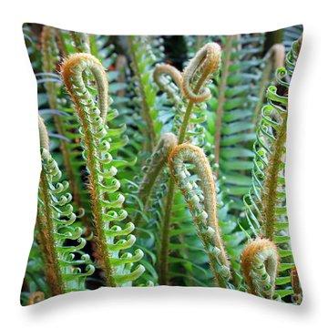 Pacific Ferns Throw Pillow