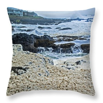Pacific Gift Throw Pillow by Dale Stillman