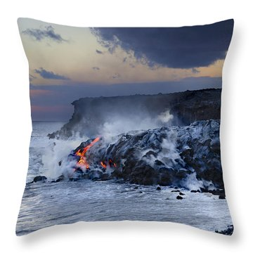 Pacific Lava Flow Throw Pillow by Dave Fleetham - Printscapes