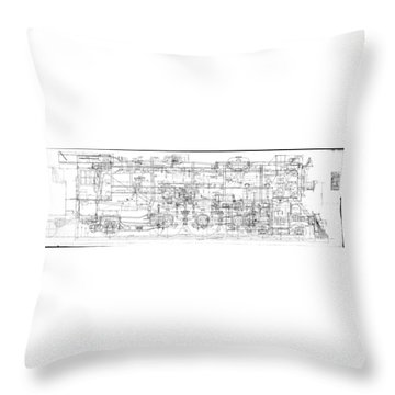 Pacific Locomotive Diagram Throw Pillow