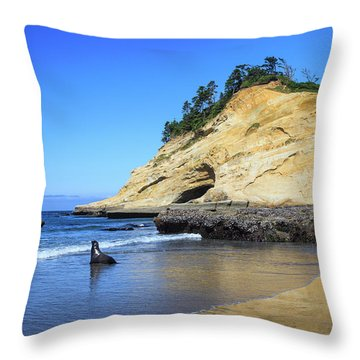 Pacific Morning Throw Pillow