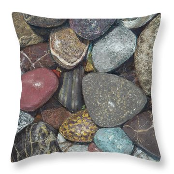 Pacific Nw Beach Rocks Throw Pillow