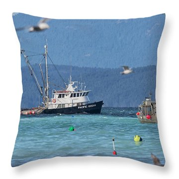 Pacific Ocean Herring Throw Pillow by Randy Hall