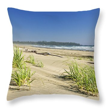 Pacific Ocean Shore On Vancouver Island Throw Pillow by Elena Elisseeva