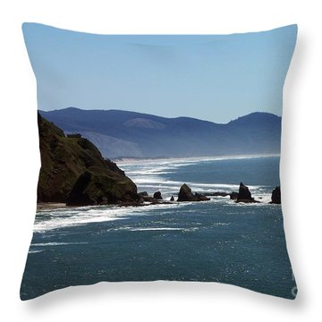 Pacific Ocean View 2 Throw Pillow by Chalet Roome-Rigdon