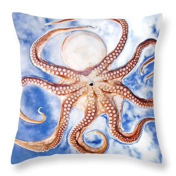 Pacific Octopus Throw Pillow by Mike Raabe