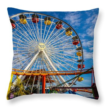 Pacific Park 5 Throw Pillow by Robert Hebert