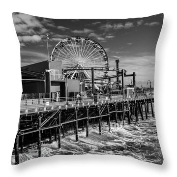 Pacific Park Bw Throw Pillow by Robert Hebert