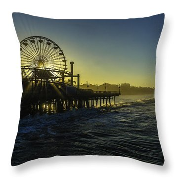 Pacific Park Ferris Wheel Throw Pillow