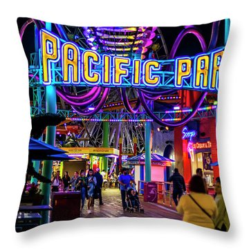 Pacific Park - On The Pier Throw Pillow