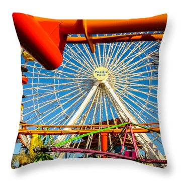Throw Pillow featuring the photograph Pacific Park by Robert Hebert