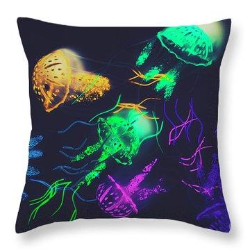 Pacific Pop-art Throw Pillow