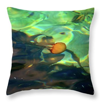 Pacific Sea Nettle Jellyfish Throw Pillow