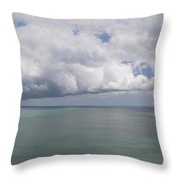 Pacific Storm Panorama Throw Pillow